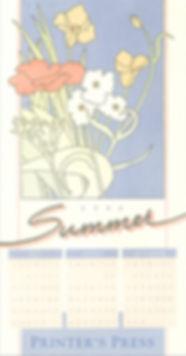 Printer's Press Calendar Poster