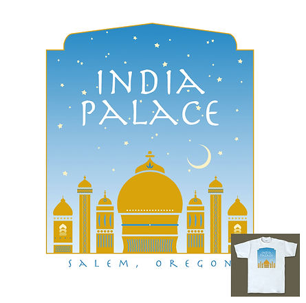India Palace Restaurant T-shirt Design