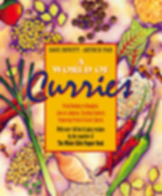 A World of Curries Book Cover Illustration
