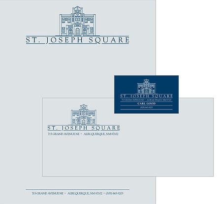 St Joseph Square Identity Package | Albuquerque