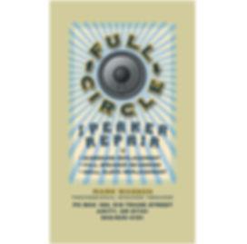 Full Circle Speaker Repair Business Card | Amity, OR