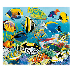 Paradise Lagoon Tropical Fish Illustration | Talk Back Tees | Oregon