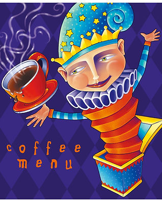 Double Rainbow Coffee Menu Illustration | Albuquerque