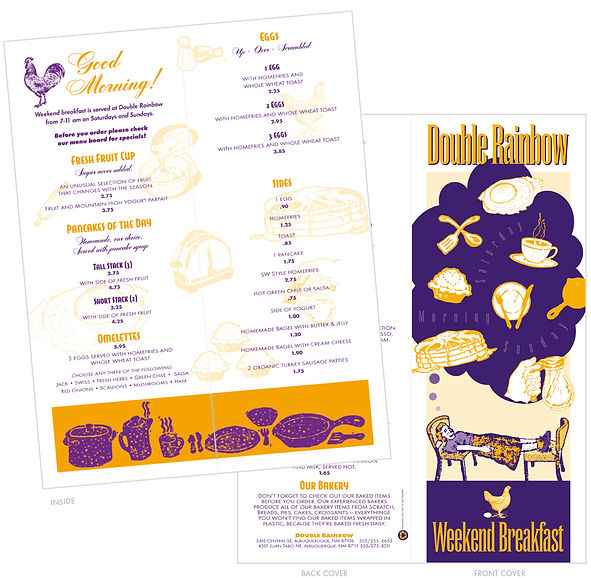 Double Rainbow Breakfast Menu