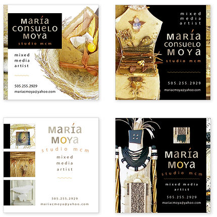 Maria Moya Artist Business Cards | Albuquerque