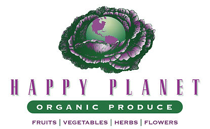 Happy Planet Organic Produce Logo Design | Albuquerque
