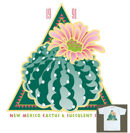 NM Cactus & Succulent Society T-shirt Design