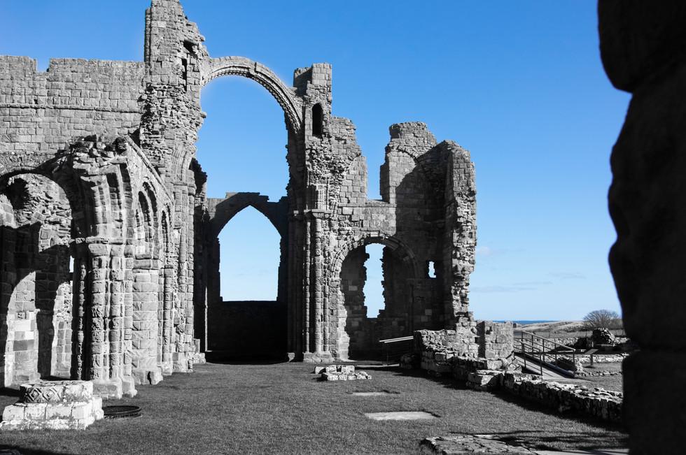 The priory against a blue sky.JPG