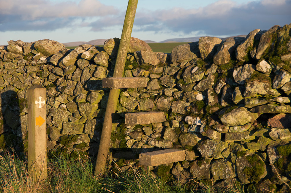 12 Equipment  Stile over dry stone wall