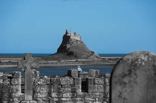 17 Lindisfarne castle viewed from the ce