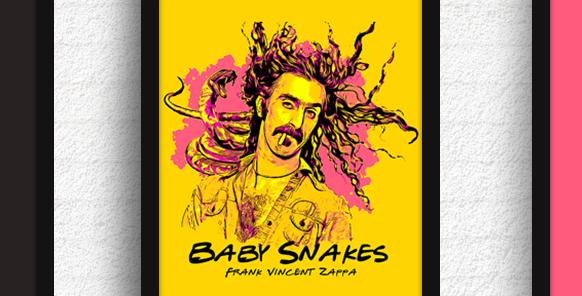 Quadro Baby Snakes - Zappa