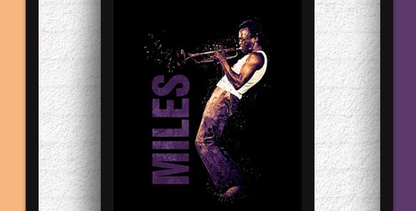 Quadro Miles Davis