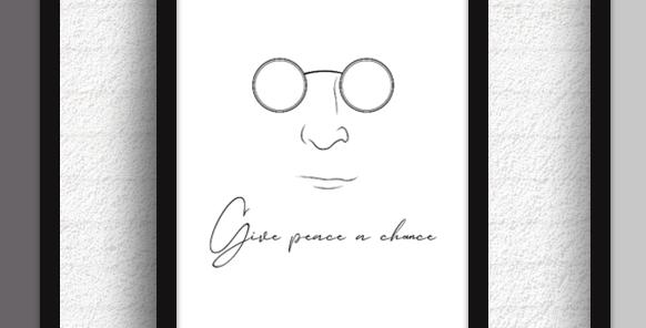 Quadro Peace a Chance