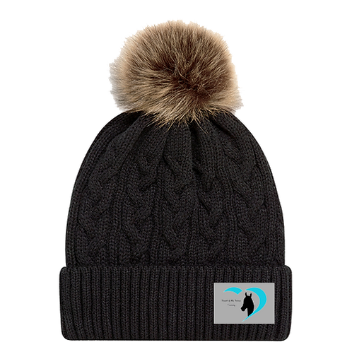 Heart of the Horse Faux Fur Pom Toque