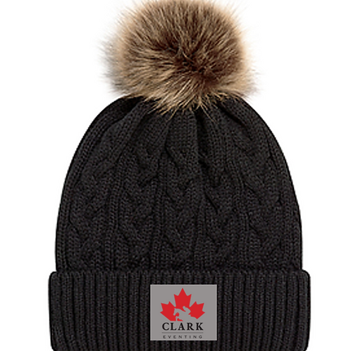 Clark Eventing Faux Fur Pom Toque
