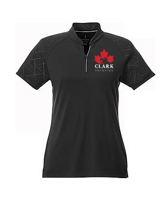 Clark Eventing 1/4 Zip Graphic Sleeve Polo