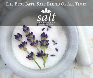 Your body is going to thank you after a soak in this bath salt blend!