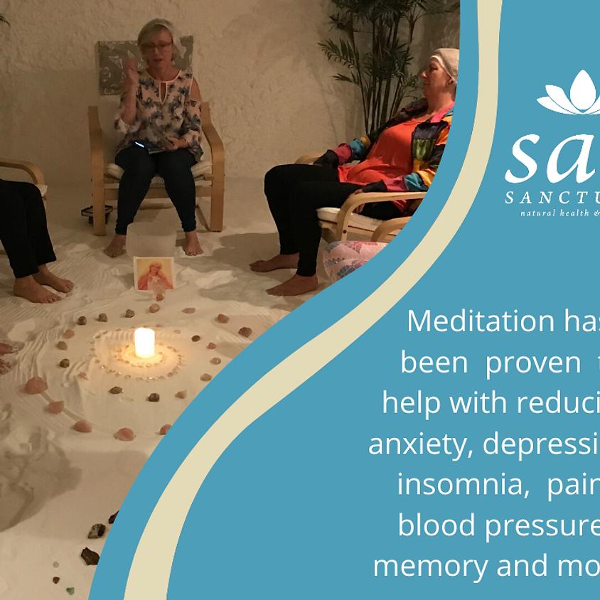 Evening Meditation in the Salt room.