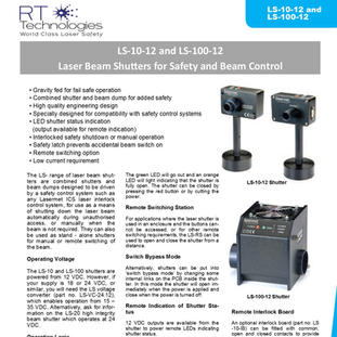 RT Technologies LS-10-12 and LS-100-12 S