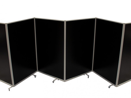 Laser Blocking Screens for a temporary enclosure