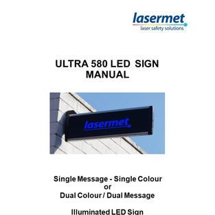 Ultra 580 Weatherproof Sign Instruction Manual