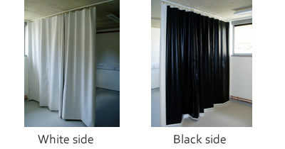 Laser blocking / Black-out curtains