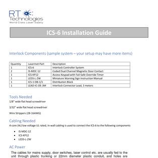 ICS-6 Installation Guide