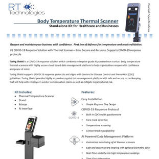 Body Temperature Thermal Scanner