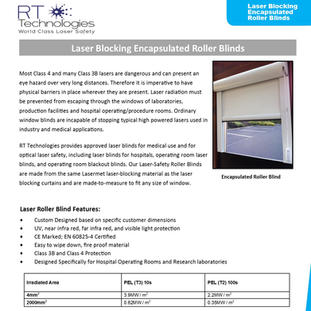 RT Technologies Encapsulated Blinds