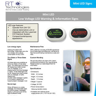 Mini LED Signs
