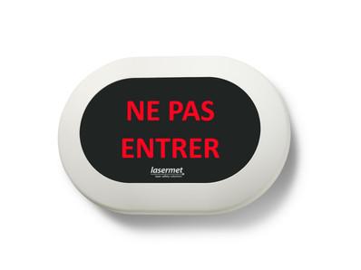 Custom Mini LED Sign in French -NE PAS ENTRER