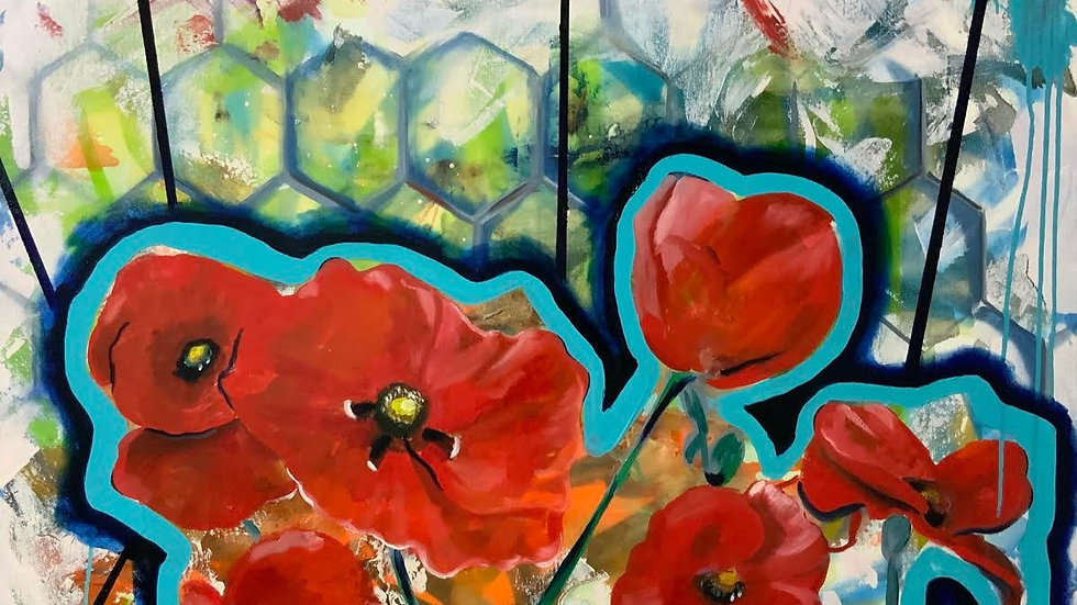 """POPPIES IN NOVEMBER"" ORIGINAL PAINTING"