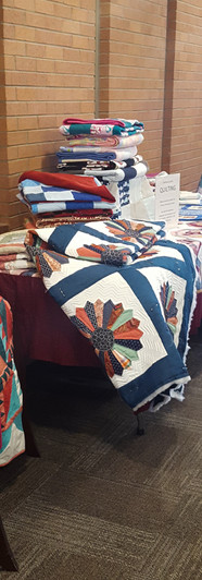 Display of donation quilts at Campion Church