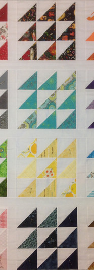 Our 1st quilt, begun in Sept 2014