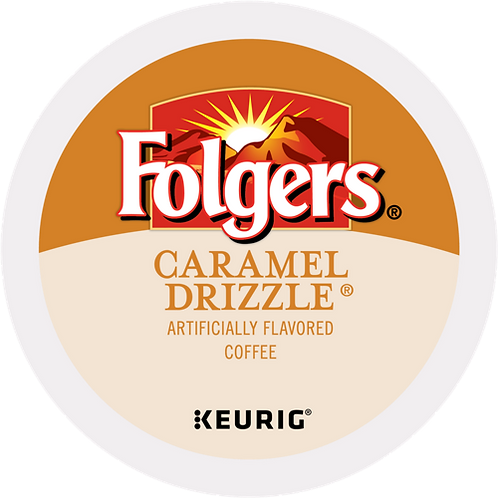 Folgers® Caramel Drizzle® Coffee - K-Cup® - Regular - Med Roast - 24ct