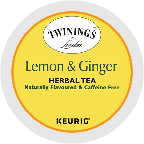 Twinings® Lemon & Ginger Herbal Tea - K-Cup® - Decaf - Herbal Tea - 24ct