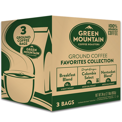 Green Mountain® Ground Coffee Favorites Collection - Bag - Regular - 12oz Ground