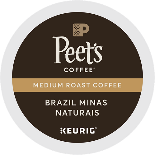 Peet's® Brazil Minas Naturais Coffee - K-Cup® - Regular - Med Roast - 22ct