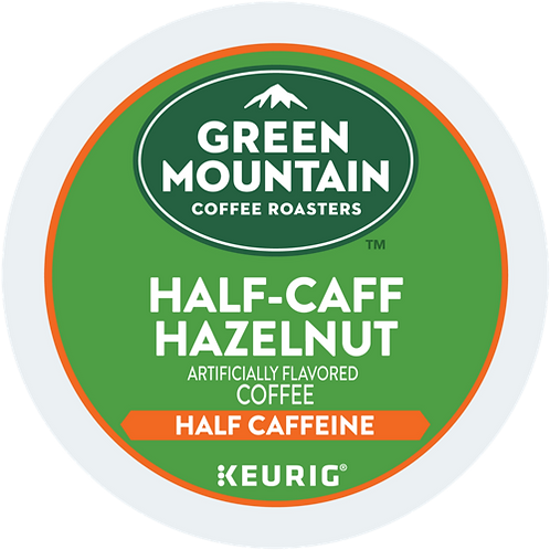Green Mountain® Half-Caff Hazelnut Coffee - K-Cup® - Half Caff - LT Roast - 18ct