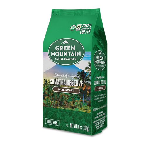 Green Mountain® Sumatra Reserve Coffee - Bag - Dark Roast - 10oz Whole Bean