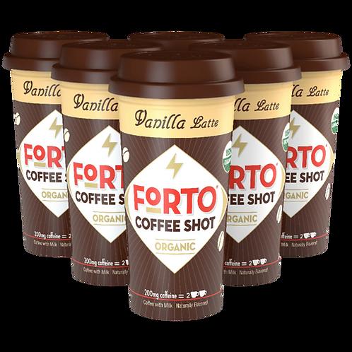 FORTO® Vanilla Latte 200mg Coffee Shot - Coffee Shots - Regular - 6ct