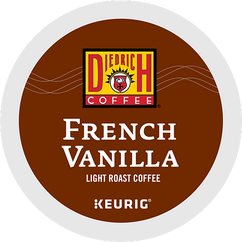 Diedrich French Vanilla Coffee - K-Cup® - Regular - LT Roast - 24ct