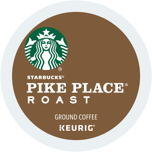Starbucks® Pike Place® Roast Coffee - K-Cup® - Regular - Med Roast - 6ct