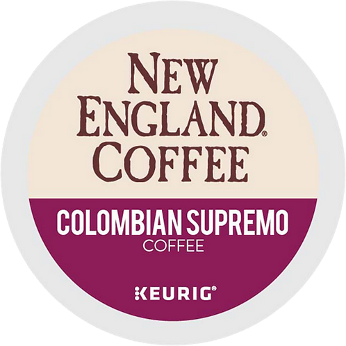 New England® Colombian Supremo Coffee - K-Cup® - Regular - 24ct
