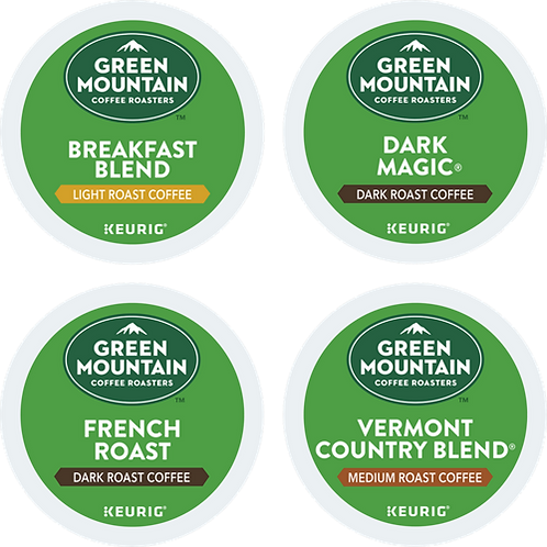 Green Mountain® Variety Regular Coffee Box - K-Cup® - Regular - 22ct