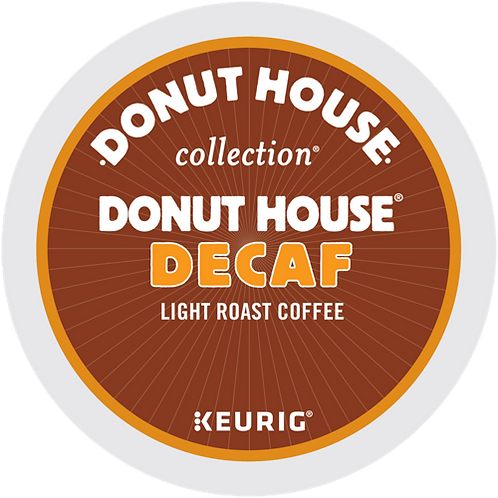 Donut House® Decaf Coffee - K-Cup® - Decaf - LT Roast - 24ct