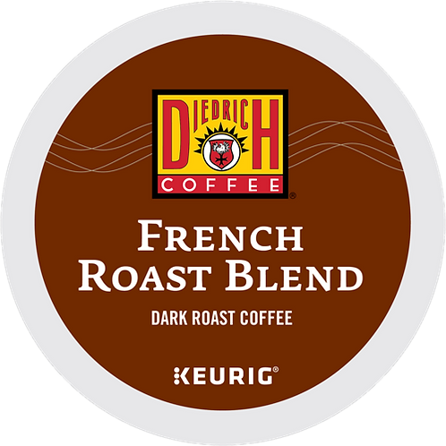 Diedrich French Roast Blend Coffee - K-Cup® - Regular - Dark Roast - 24ct