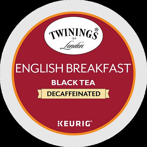 Twinings® English Breakfast Decaf Tea - K-Cup® - Decaf - Black Tea - 24ct