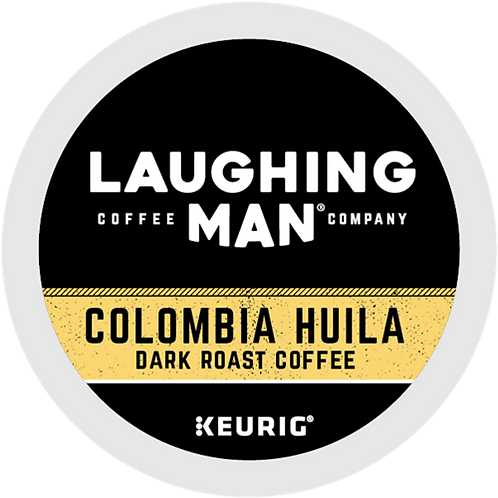 Laughing Man® Colombia Huila Coffee - K-Cup® - Regular - Dark Roast - 6ct