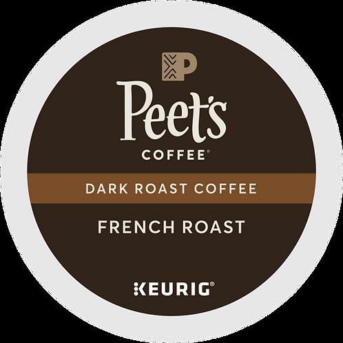 Peet's® French Roast Coffee - K-Cup® - Regular - Dark Roast - 22ct